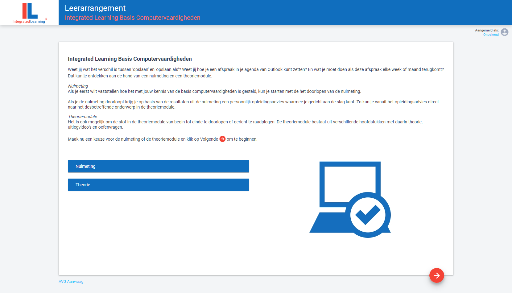 Integrated Learning Basis Computervaardigheden portal