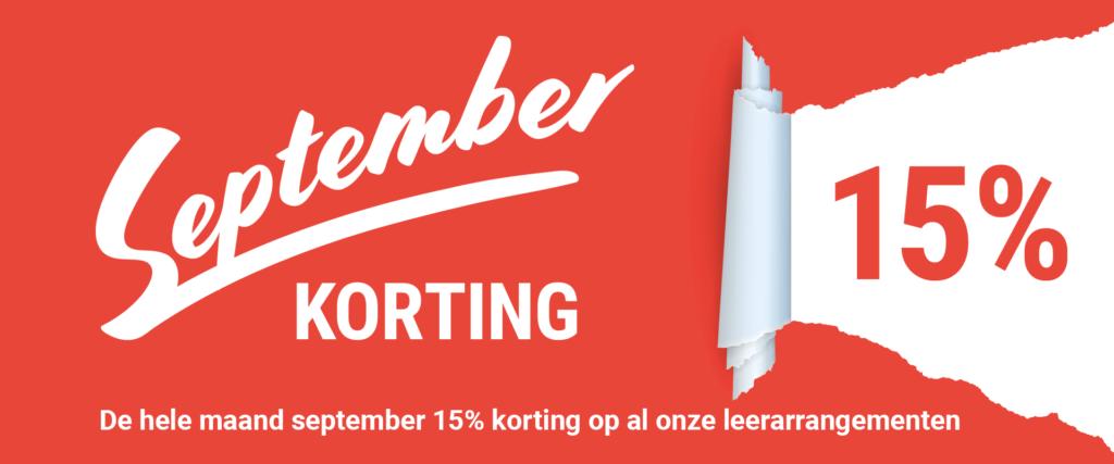 Banner septemberkorting